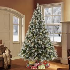 45ft Prelit Artificial Christmas Tree Decorated Winter Wonderland