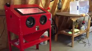 harbor freight stand up sand blast cabinet review mods youtube