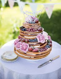 Naked Victoria Sponge Wedding Cake