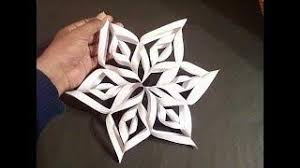0457 How To Make Simple Easy Paper Cutting 3D Flower DIY Tutorial