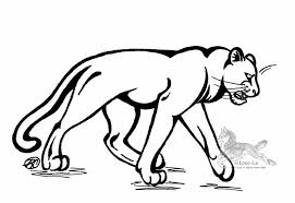 Coloring Page Panther Animals 54