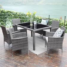 7 Piece Patio Wicker Dining Set,Wisteria Lane Outdoor Rattan Dining  Furniture Glass Table Cushioned Chair,Grey Outdoor Wicker Chairs Table Cosco Malmo 4piece Brown Resin Patio Cversation Set With Blue Cushions Panama Pecan Alinum And 4 Pc Cushion Lounge Ding 59 X 33 In Slat Top Suncrown Fniture Glass 3piece Allweather Thick Durable Washable Covers Porch 3pc Chair End Details About Easy Care Two Natural Sorrento 5 Cast Woven Swivel Bar 48 Round Jeco Inc W00501rg Beachcroft 7 Piece By Signature Design Ashley At Becker World Love Seat And Coffee Belham Living Montauk Rocking