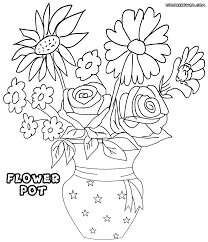 New Flower Pot Coloring Page 38 For Kids With