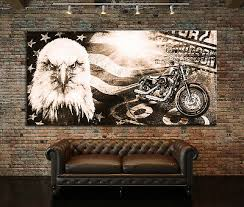 leinwand bild harley davidson modern abstrakt poster wand bild motorrad ebay