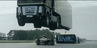 The Lotus F1 Team Jumped A Semi-Truck Over One Of Their Race Cars ...