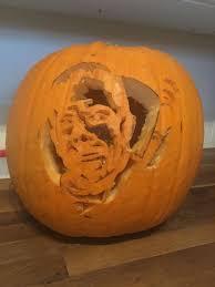 Walking Dead Halloween Stencils by Negan Walking Dead Pumpkin 10 Steps With Pictures