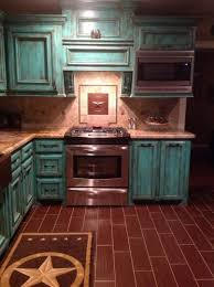 Turquoise Kitchen Decor Walls Navy Cabinets Rustic Teal