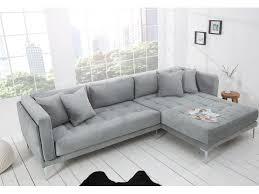 canapé design design en métal tissu gris neisti 290 cm