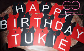 jumpman happy birthday banner customize creative collection