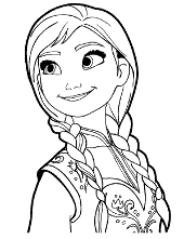 Anna Frozen Printable Coloring Books Elsa Free Page