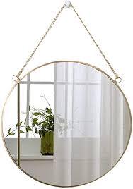 lucasng runder spiegel wanddeko wandspiegel badspiegel badezimmer dekoration mirror goldene grenze hängenden spiegel für flur bad gäste wc 40 x 40