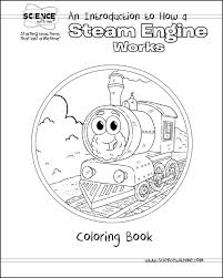 An Introduction To How A Steam Engine Works Coloring Book