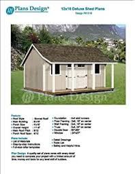 project plans for 12 x 16 shed reverse gable roof style design