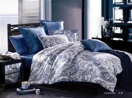 Luxury paisley egyptian cotton satin forter bedding sets king