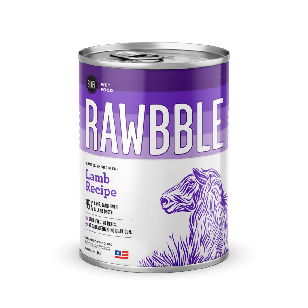 Bixbi Rawbble Lamb Wet Dog Food - 12.5 oz Can
