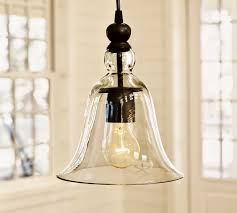 small rustic glass indoor outdoor pendant pottery barn