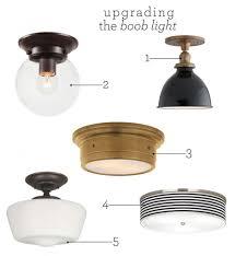 Farmhouse Flush Mount Ceiling Light Elegant Upgrading The Boob Of