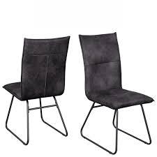 stuhl arona schwarz anthrazit stoff metall esszimmerstuhl küchestuhl küche esszimmer