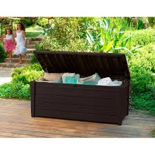 Rubbermaid Patio Storage Bench by Keter Storage Bench Brown Bench Decoration