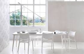 Dining Area Proposal By Heals Large Lau Table And Laclasica Chairs White Stain Finish
