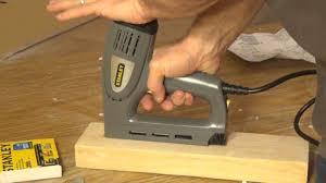 Wood Floor Nailer Gun by Stanley Electric Staple Nail Gun Tre550 Youtube