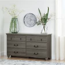 South Shore Furniture Dressers by South Shore Noble Gray Maple 6 Drawer Double Dresser Walmart Canada