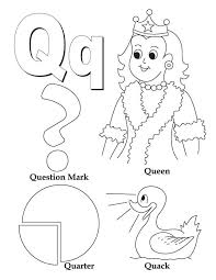 My A To Z Coloring Book Letter Q Page