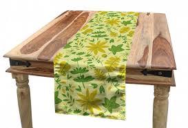 abakuhaus tischläufer esszimmer küche rechteckiger dekorativer tischläufer blätter blätter pflanzen schmetterlinge kaufen otto