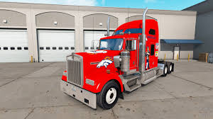 100 Denver Trucks Skin Broncos On The Truck Kenworth W900 For American Truck