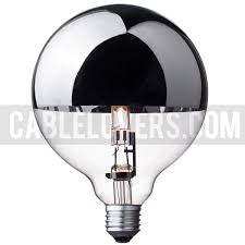 halogen globe bulb g125 silver crown cablelovers