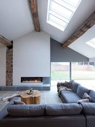 Design Ideas For A Large Contemporary Formal Living Room In Cheshire With White Walls Limestone