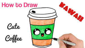 How To Draw Coffee Drink Cute And Easy