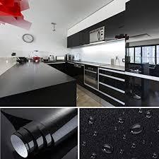 0 61x5 5m pvc selbstklebend möbel klebefolie küchenschrank aufkleber schrankfolie schlafzimmer wand tapeten roller küche folieren schwarz mit