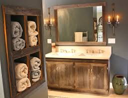 Unfinished Bathroom Wall Cabinets by Bathroom Gray Vanity With Towel Shelf Airmaxtn