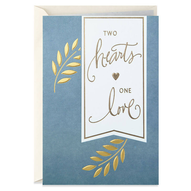 Two Hearts, One Love Anniversary Card