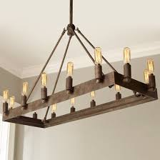 Rustic Wooden & Wrought Iron Chandeliers Shades of Light
