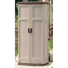 Suncast Outdoor Storage Cabinets With Doors by Suncast Vertical Storage Shed 138479 Patio Storage At