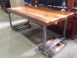 Dining Tables Welded Metal Table Steel Room Wood Top Legs Images Best Slab Custom And