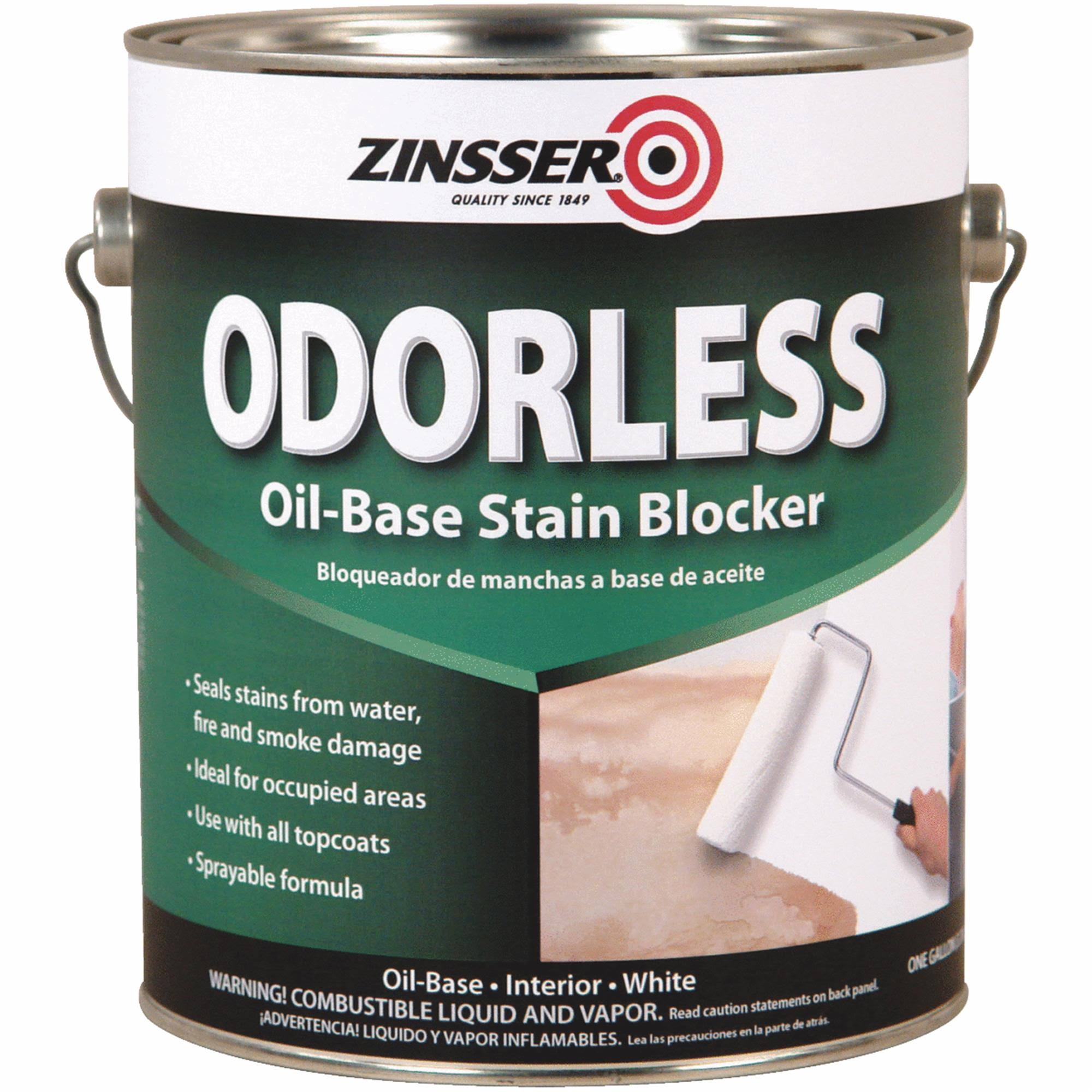 Zinsser Bullseye Odorless Oil Base Stain Blocker - White, 1 Gallon