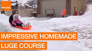 Genius Dad Builds Backyard Luge Course - YouTube Tucker Wests Backyard Luge Track Nbc Olympics Twostory Ice Dominates Cnn Video Backyard Course With High Turns And A Few Crashes Youtube Genius Dad Builds Luge Course Roller Coaster Jukin Media Youtube Ideas Pam On The Run 1 Barrie Dad Builds 150metre In His Toronto Star Backyards Modern Snowboard Jump 2010 14 The West Finds Passion For
