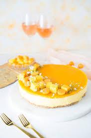 fruchtiger no bake mango cheesecake zimtkeks und apfeltarte