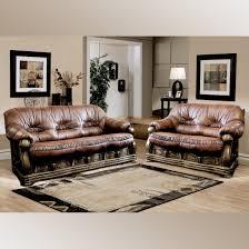 leder couchgarnitur prestige 3 sitzer und 2 sitzer mit schlaffunktion braun
