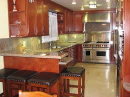 Rectangular Kitchen Island In Galley Smith Design More With Plans Pictu