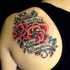 Mother Daughter Roses Tattoo Idea