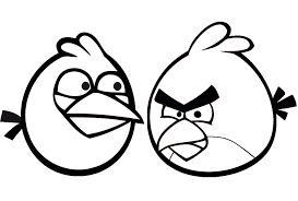 Print Angry Birds Coloring Pages For Kids Printable Full Size