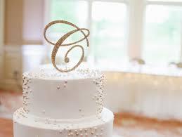 Letter Cake Topper Monogram In Glitter