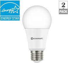 no1 ecosmart 75w equivalent daylight a19 dimmable led light bulb 2