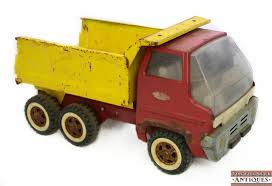 VTG 1960s Tonka Red & Yellow Gas Turbine Pressed Steel Dump Truck ...