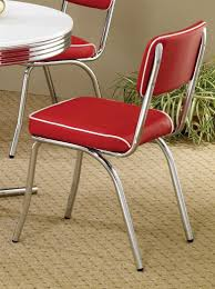 2450R Mix & Match Red Chrome Plated Retro Dining Chair Set Of 2 ... New Retro Ding Chair Fniture Tables Chairs On Carousell Cheap Diner Find Deals Line At Baxton Studio Zachary Chic French Vintage Set Of 2 1960s 6 Danish Rosewood Aluk High Stosfolding Chairs Hand Leisure Pack Grey Robert Dyas Tan Wing Back Lori Kitchen Dinette White Walnut Wood 4 Vintage Ding 100580 Vintage Ding Chair Black Red