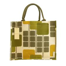 e of a range of jute cotton shopping bags Orla Kiely has designed